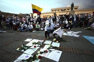 Protestas por losasesinatos y la violencia en Colombia.