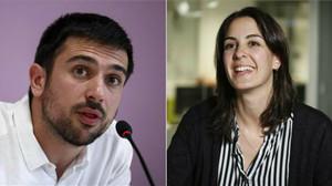 Ramón Espinar y Rita Maestre, candidatos a las primarias a la dirección de Podemos en la Comunidad de Madrid.