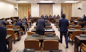 La Comisión de Justicia, al inicio del debate de la reforma del Código Penal, este jueves.