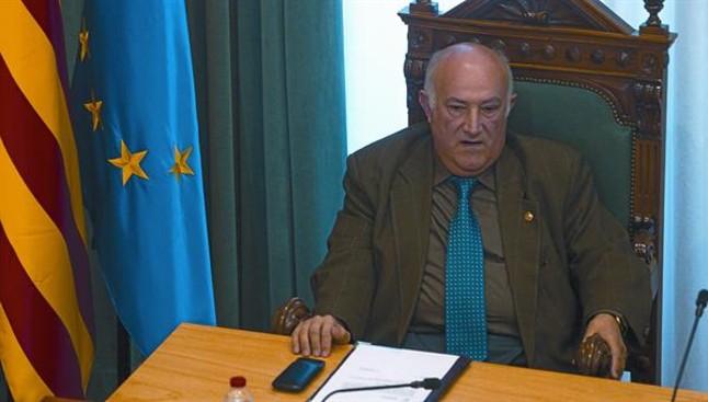 El concejal Miguel Jurado, en el mismo pleno del consistorio.