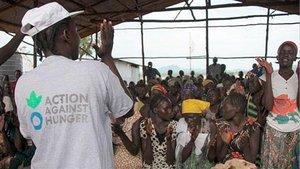 Un cooperante de la ONG Acción Contra el Hambre en Etiopía.