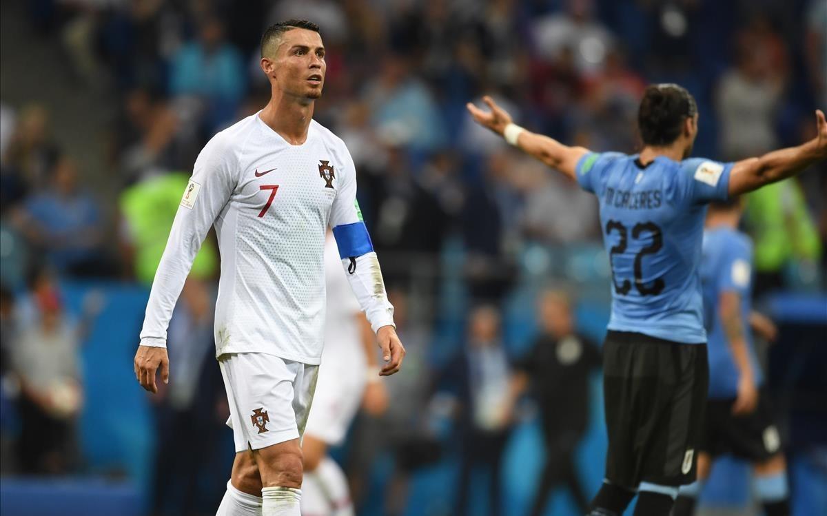 Cristiano Ronaldo, con la camiseta de Portugal en el Mundial