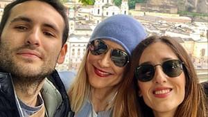 Cristina Cifuentes, con sus hijos, en la imagen que ha colgado en su cuenta de Instagram.