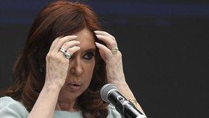 Cristina Fernández de Kirchner, en una imagen de archivo.