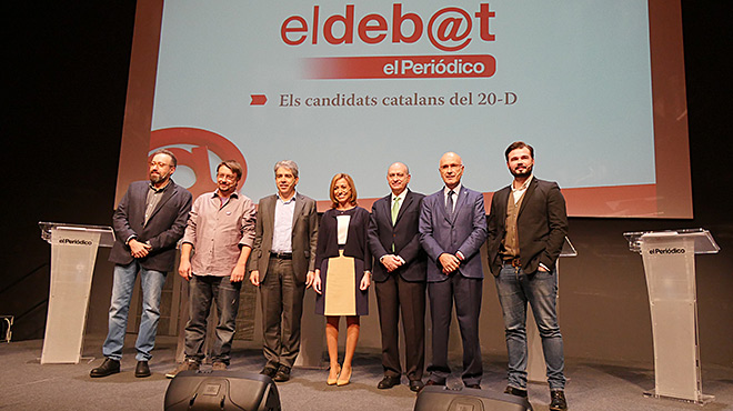 Los recortes y la corrupción enfrentan a los candidatos catalanes en el debate de EL PERIÓDICO