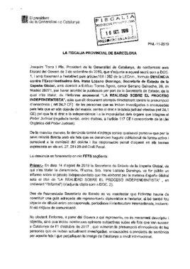 Denuncia de Torra a España Global.