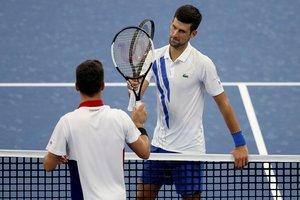 Novak Djokovic encontró en Bautista a un duro rival.