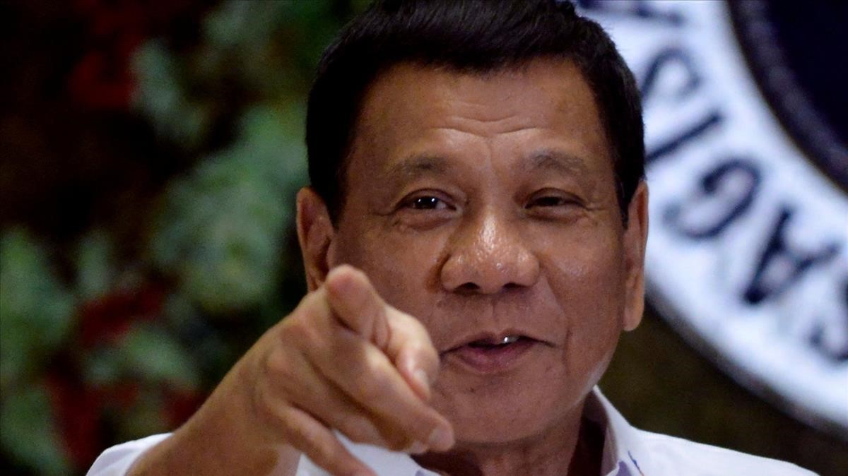 El presidente filipinoRodrigo Duterte.