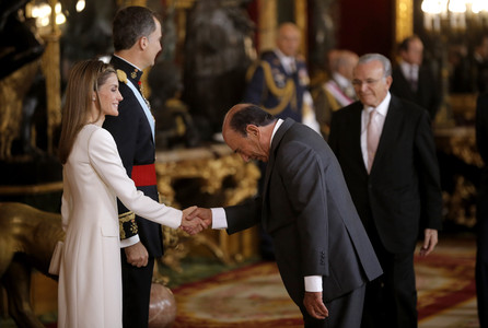 Emilio Botín en la proclamacion de Felipe VI, en junio del 2014.