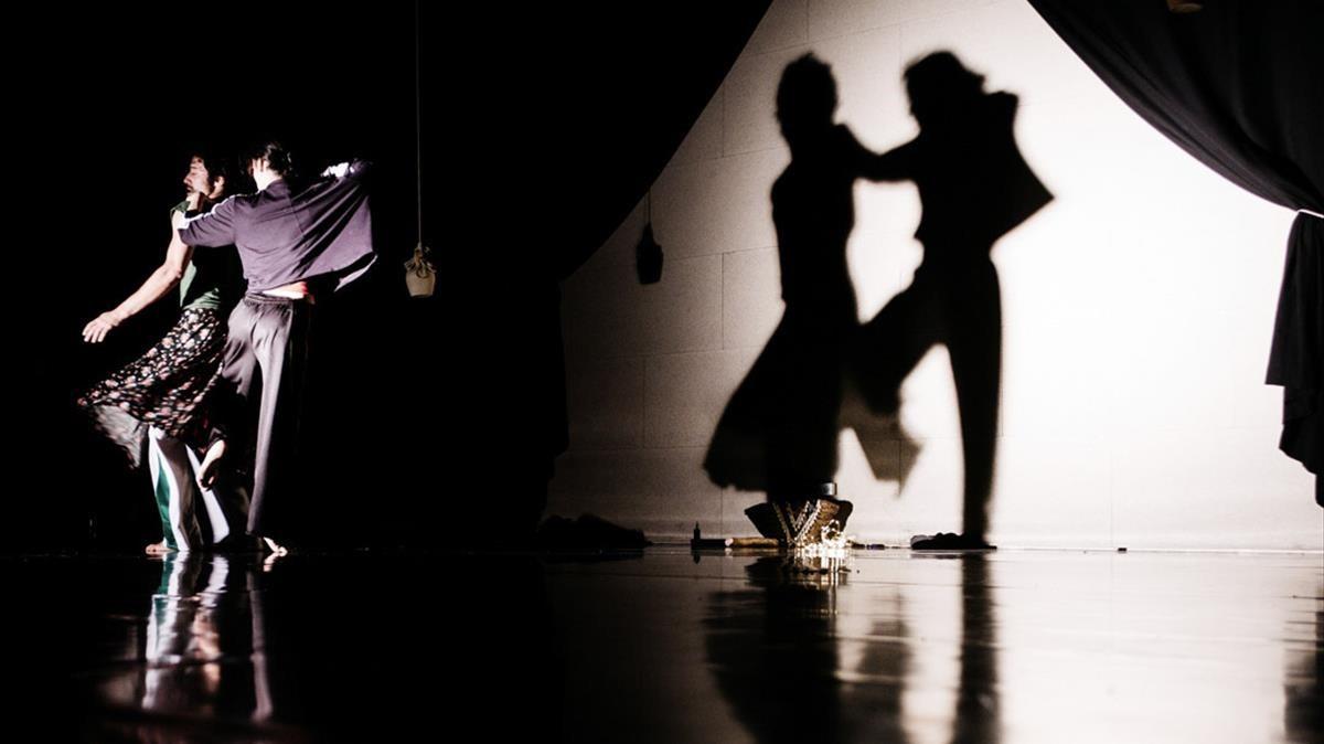 Un momento del espectáculo Sa mateixa, con la música de Joana Gomilla y la coreografía de Lali Ayguadé.