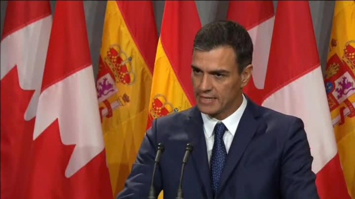 Sánchez advoca a Quebec per una «solució política» al conflicte català