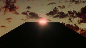 Un fotograma de '2001: Una odisea en el espacio', con el icónico monolito