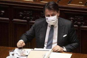 Giuseppe Conte, durante su discurso en el Parlamento.