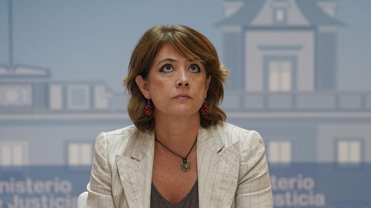 La ministra de Justicia, Dolores Delgado. El Gobierno ultima la contratación de un bufete en Bélgica para la defensa de Llarena.