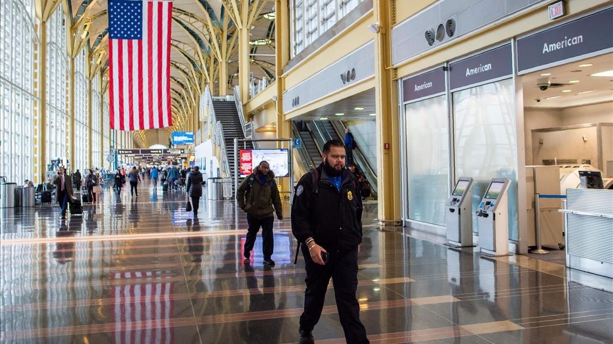 Imagen del aeropuerto Ronald Reagan de Washington.