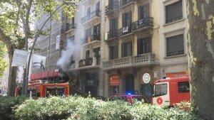Incendio en una farmacia de Barcelona