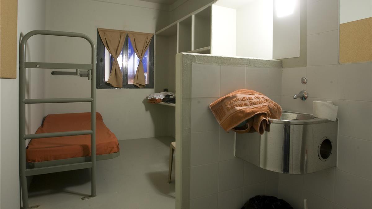 Celda número 23 del Módulo 1 en la cárcel de Lledoners, en el 2008.
