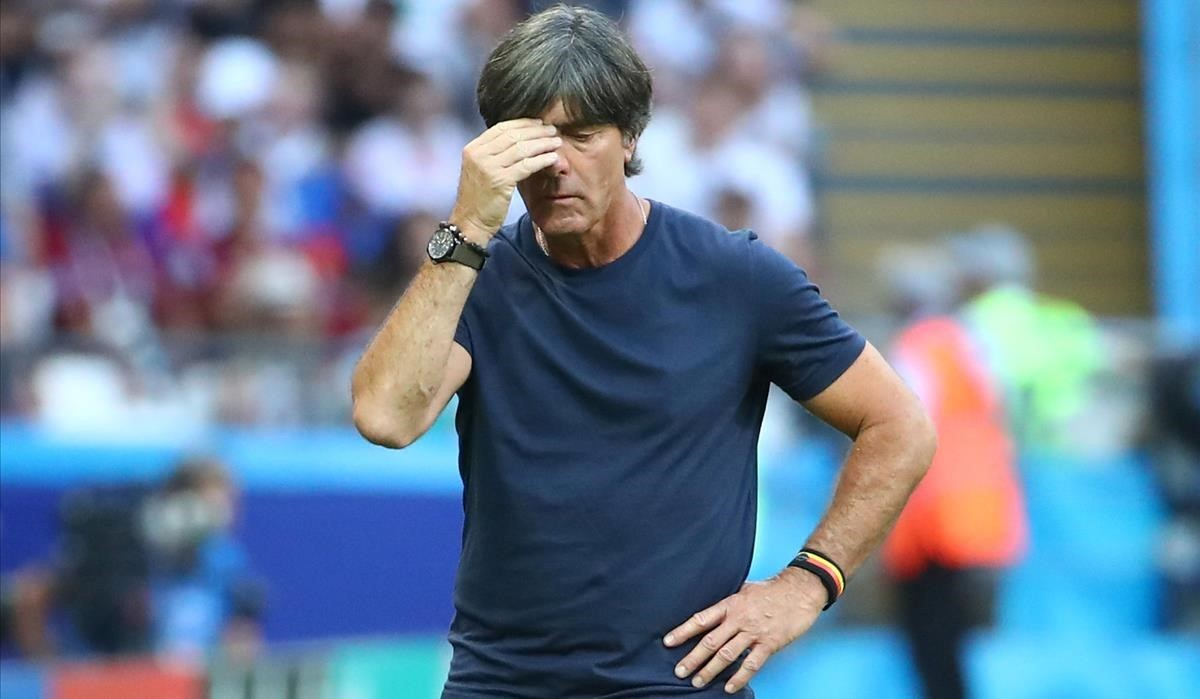 Joaquim Löw después de la derrota ante Corea del Sur