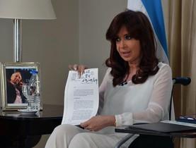 Kirchner, durante un discurso cuando era presidenta.