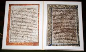 Las dos cartas manuscritas de Santa Teresa de Jesús que han sido recuperas por la Guardia Civil.