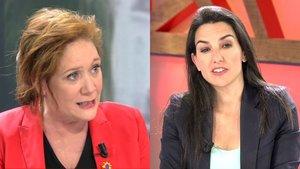 """Cristina Fallarás se niega a dirigirle la palabra a Rocío Monasterio (Vox) """"por incluir franquistas en su partido"""""""