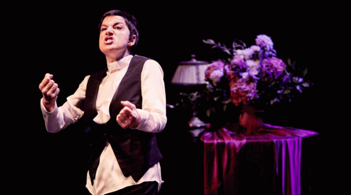 """Lloll Bertran en un moment de lespectacle""""El secret de la Lloll""""."""