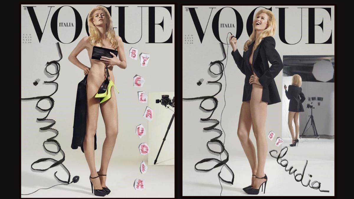 Claudia Schiffer Se Desnuda Por Los 25º Años De Vogue Italia