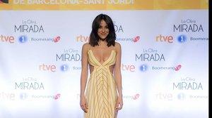 La actriz Macarena García, en la presentación de la serie de TVE-1 La otra mirada.