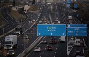 Tráfico de entrada a Madrid, en una imagen de archivo.