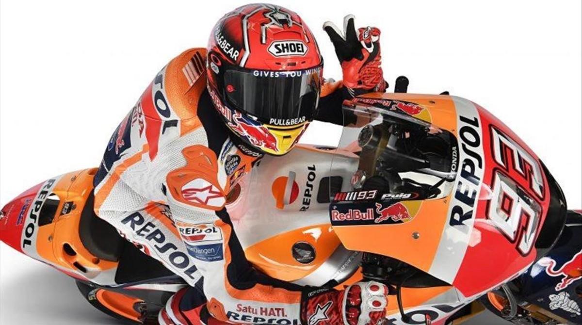 Marc Márquez acaba de renovar, dos años más, hasta finales de 2020, por el equipo Repsol-Honda.