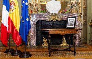 La mesa en la que Manuel Azaña firmó su dimisión como presidente de la Segunda República