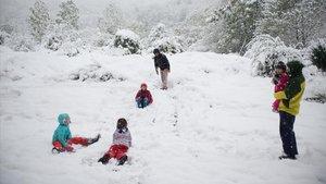 Las primeras nieves de la temporada obligan a usar cadenas en la Bonaigua