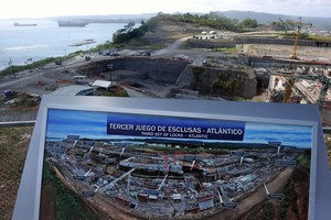 Obras de ampliación del Canal de Panamá. AFP / RODRIGO ARANGUA