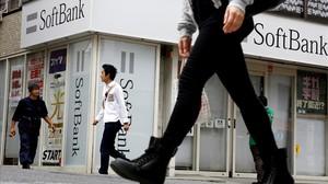 Oficina del banco japones Softbank en Tokio.