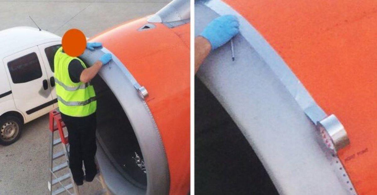 La explicación a por qué 'arreglan' los aviones con cinta adhesiva