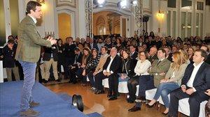 El líder del PP, Pablo Casado, en la presentación de candidatos de Castilla La-Mancha a las elecciones municipales y autonómicas de mayodel 2019.