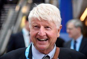 Stanley Johnson, padre del primer ministro británico, Boris Johnson, en una imagen tomada en el 2018.