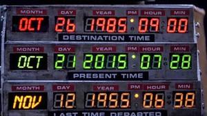 El panel de mandos del DeLorean de Regreso al futuro.