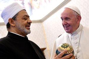 El Papa recibe al Gran Iman deAl-Azhar Sheikh Ahmed Al-Tayeb, este viernes.