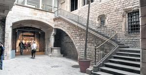 Patio de acceso al Museu Picasso de Barcelona, en la calle de Montcada.