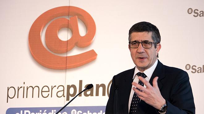 Patxi López, al fòrum Primera Plana dEL PERIÓDICO.
