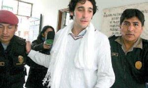 Pedro Acevedo Reyes en el momento que fue detenido en Perú en el 2008.