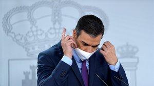 Pedro Sánchez, tras el Consejo de Ministros del 4 de agosto, el último antes de las vacaciones de verano.