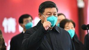 El presidente chino, Xi Jinping, durante la visita que realizó a Wuhan.