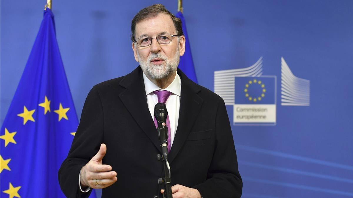 El presidente del Gobierno, Mariano Rajoy, el pasado 23 de febrero, en Bruselas.