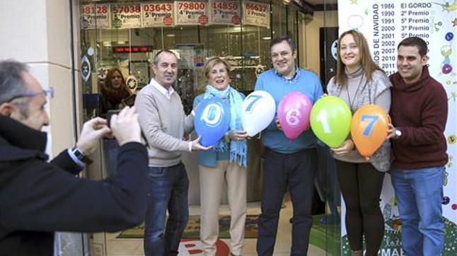 Primer cuarto premio caído en Bilbao.