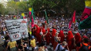 Protesta contra el Gobierno en Sídney, este viernes.