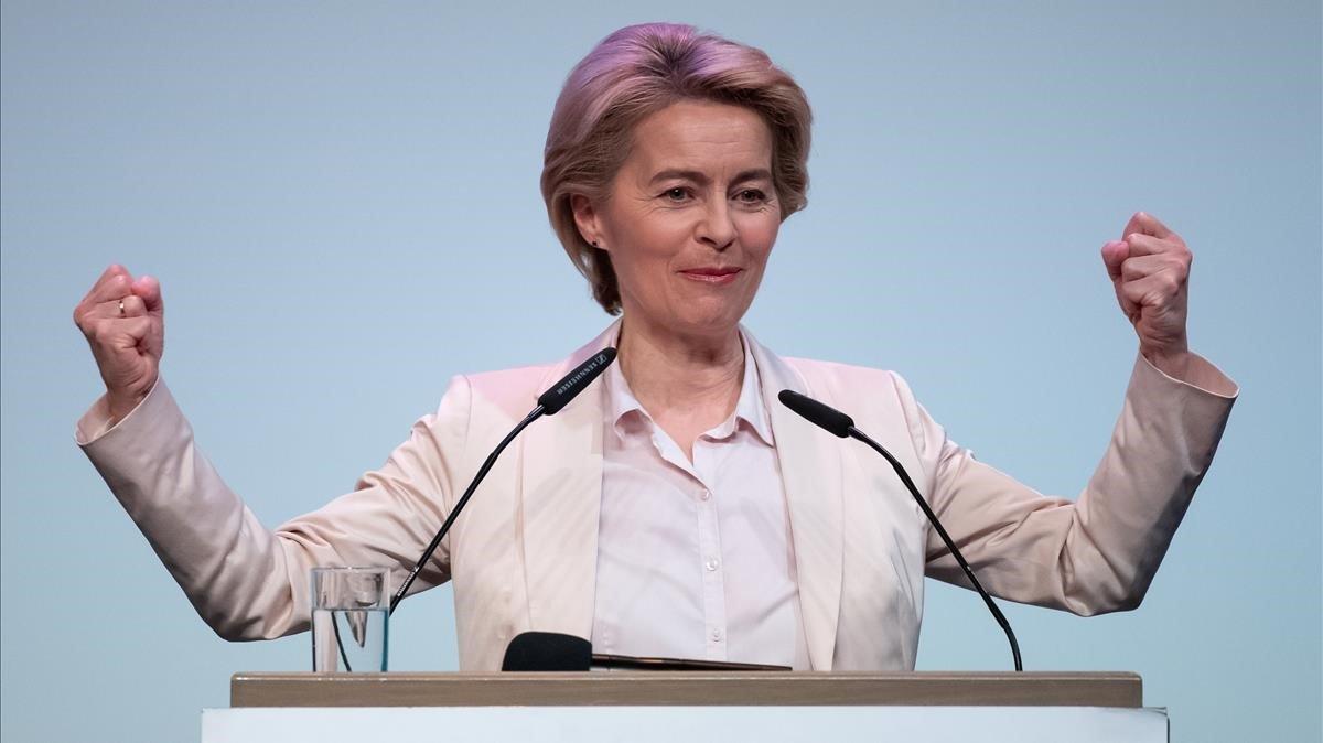 La próxima presidenta de la Comisión Europea, Ursula von der Leyen.