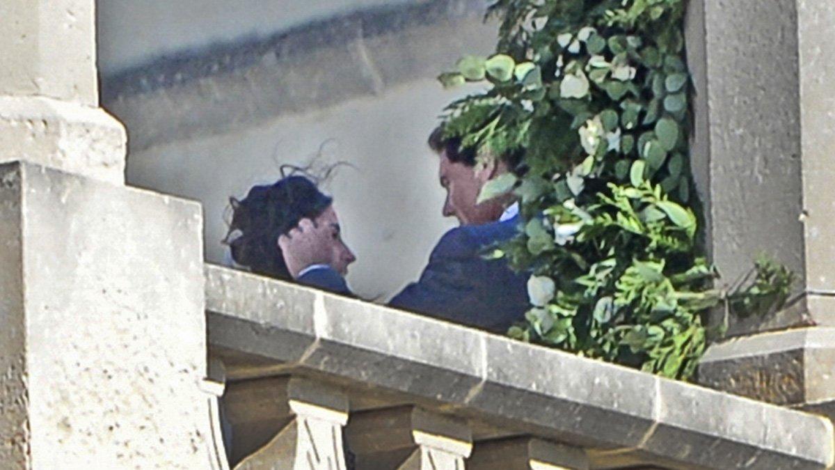 Rafa Nadal y Xisca Perelló durante su boda hoy