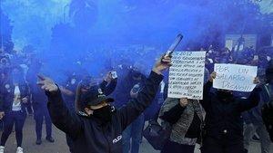 Imagen de una de las protestas de los policías de Buenos Aires.